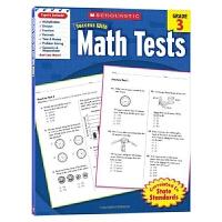 英文原版 Scholastic Success with Math Tests 3 美国小学三年级数学测试题 学乐英语教