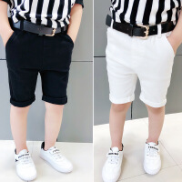 男宝裤子男宝宝儿童牛仔短裤男童白色牛仔裤2018夏新款韩版潮时尚
