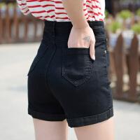 短裤女夏2018新款夏季款牛仔短裤女夏薄韩版高腰显瘦卷边大码百搭