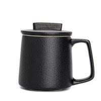 唐丰陶瓷茶杯带盖过滤复古水杯大容量创意个性家用杯子套装泡茶器