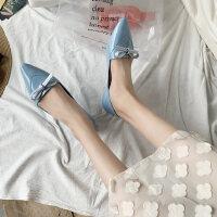 户外仙女风晚晚单鞋韩版时尚休闲百搭尖头浅口平底女鞋