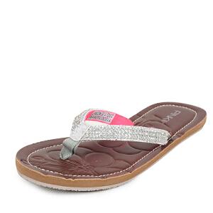 达芙妮旗下SHOEBOX/鞋柜时尚甜美风凉拖鞋平底凉拖鞋