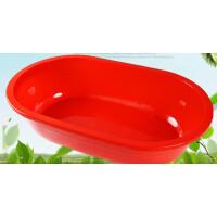 洗澡盆家用超大号儿童宠物长形椭圆加厚水产养殖熟塑料大盆子 西瓜红 1.6米加深加厚加大长盆