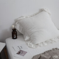 韩式淑女风棉麻荷叶边靠垫花边抱枕靠垫床头沙发抱枕含芯方枕靠垫 45x45cm含芯