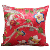 花鸟中式抱枕沙发靠垫靠枕床头靠背腰枕靠垫芯靠垫套抱枕套