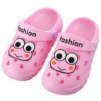 儿童洞洞鞋宝宝1-3岁夏季男女凉拖鞋婴幼儿软底花园鞋沙滩鞋