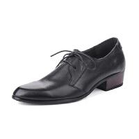 新款韩版潮流男鞋子英伦休闲鞋青年百搭透气商务皮鞋男增高潮鞋 增高版