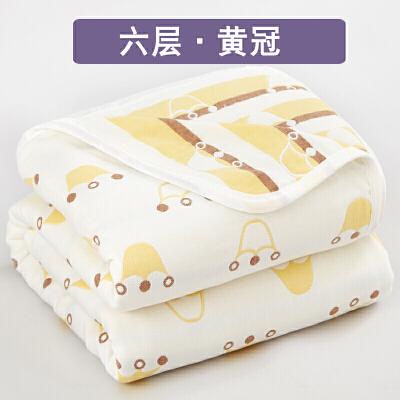 六层纯棉纱布毛巾被床单人双人儿童夏季夏凉被子盖毯空调毯子