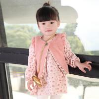 宝宝裙子女童长袖碎花连衣裙0-1-2-3岁婴儿公主裙