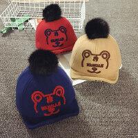 婴儿帽子6--24个月冬季儿童鸭舌帽宝宝帽子1-2岁秋男女棒球帽潮