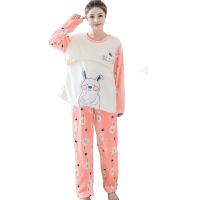 慈颜秋冬季款睡衣珊瑚绒月子服产后哺乳衣加厚孕妇家居服套装FJC876
