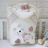 婴儿抱被春秋冬可脱胆纯棉被子加厚新生儿用品夏薄款襁褓宝宝包被 立体 兔 可脱胆 春秋款 棉花芯