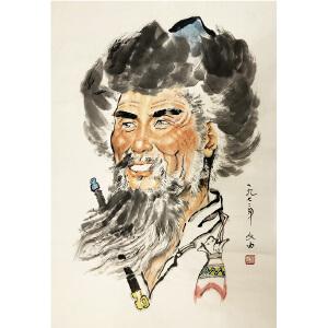 刘文西《人物》著名画家