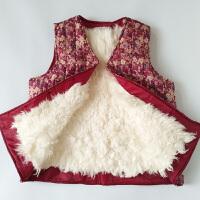 秋冬季中老年人羊毛马甲女皮毛一体坎肩真羊皮加厚保暖妈妈装