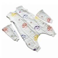 六八层纱布婴儿全蘑菇分腿睡袋宝宝儿童背心防踢被春夏薄. 羊图案 八层长袖分腿