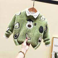 男女童毛衣婴儿宝宝卡通印花针织打底衫