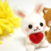 羊毛毡戳戳乐diy材料包三八节礼物草莓柴犬玩偶新手手工制作