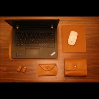 笔记本电脑内胆包内胆皮套笔记本电脑保护套蓝色金色单肩内胆电脑包金属保护套 14寸