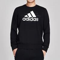 adidas阿迪达斯男服卫衣2019新款圆领套头衫休闲运动服DV3062