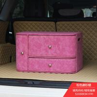 小车后备箱收纳储物箱子多功能车载尾箱整理箱宝马奔驰后背杂物盒