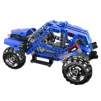 【1件6折 2件5折】跃高 标致 小颗粒拼装积木 科技机械系列 Y58404越野先锋车 蓝色
