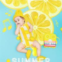 2018新款米乐儿童主题服装儿童摄影服装糖果色时尚小柠檬摄影服装