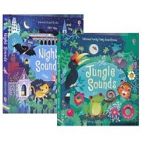 【首页抢券300-100】Usborne Touchy-Feely Sound Books Jungle and Nig