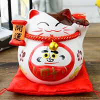 陶瓷猫摆件小号存钱罐创意礼品实用生日礼物男女生桌面装饰品 520礼物父亲节礼物