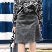 a字半身裙2017秋冬装新款韩版chic学生百搭高腰包臀裙子小短裙女