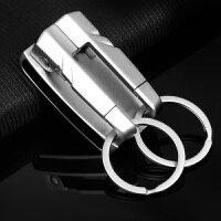 汽车钥匙扣男士女士定制穿皮带钥匙圈钥匙链情侣简约礼品锁匙扣腰挂件用品