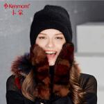 卡蒙加绒加厚女式冬季羊毛手套户外皮草兔毛连指手套保暖毛线手套2806