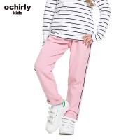 ochirly kids欧时力童装女童2017新款提花针织棉质长裤5J01065110