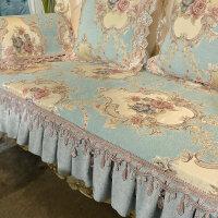 欧式沙发垫123组合三件套防滑实木沙发巾四季通用贵妃套订做
