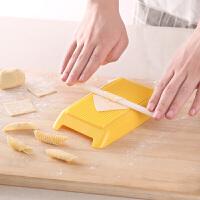 贝壳面意大利通心粉制作器宝宝辅食模具螺旋空心意面手工面条工具 如图色(送切板1块)
