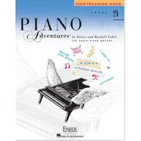 英文原版 菲伯尔钢琴基础教程(2A级):视奏 Piano Adventures: Level 2A: Sightread