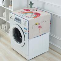 滚筒洗衣机罩冰箱盖布防尘防晒罩防水棉麻盖巾床头柜盖布