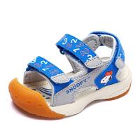 史努比童鞋男童包头凉鞋夏新款儿童凉鞋防踢女童凉鞋机能凉鞋