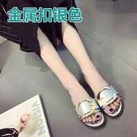 凉拖鞋女夏时尚外穿百搭室外平底平跟韩版人字拖凉鞋一字拖潮