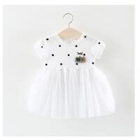 女童裙子夏季儿童短袖连衣裙0一1-3岁婴儿女宝宝夏装蓬蓬纱公主裙