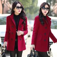 中年轻少妇女装春秋季舒适保暖毛呢外套冬天中短款30到40岁45至35