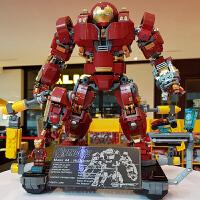兼容乐高复仇者联盟3钢铁侠积木反浩克装甲机甲模型拼装玩具男孩6