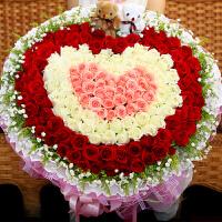 ????520情人节33朵红玫瑰鲜花花束礼盒生日送花宜昌武汉重庆上海北京西安送 喜迎国庆