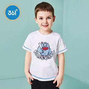 【下单立减2折价:19.8】361度男童短袖针织衫夏季新款N51822201