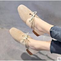 百搭潮款新款豆豆鞋女韩版单鞋平底圆头瓢鞋学院英伦风女鞋懒人鞋