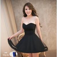 新款夜店女装性感裹胸裙抹胸连衣裙夏短裙露背修身洋装公主裙礼服