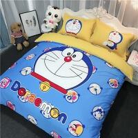 棉斜纹卡通粉红豹四件套棉床单被套儿童床上用品床笠夏季1.8m