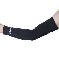 骑行护臂袖套 篮球护具运动护臂 薄加长护肘护腕 防晒透气吸汗护手臂套袖 黑色一对装