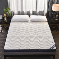 【品牌热卖】床垫软垫加厚海绵垫家用床褥垫榻榻米软垫学生宿舍褥子 乳胶床垫银色 90x200床6.5公分厚