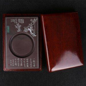 中国端砚 宋坑 《高洁清幽》砚 配木盒