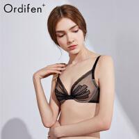 欧迪芬O+文胸内衣女女士内衣网纱性感胸罩薄款透气聚拢文胸PB8302